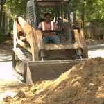 Road improvements, grading and excavation