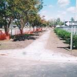 Handicap ramp construction, concrete repair